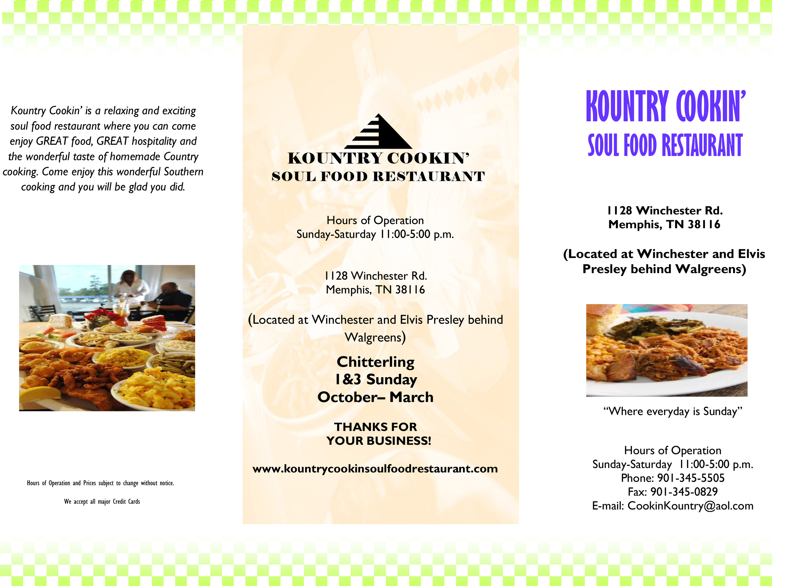 Swell Welcome To Kountry Cookin Soul Food Restaurant Menu Download Free Architecture Designs Scobabritishbridgeorg